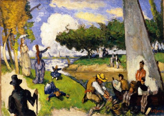 Cezanne, Paul: The Fishermen (Fantastic Scene). Fine Art Print/Poster. Sizes: A4/A3/A2/A1 (004213)